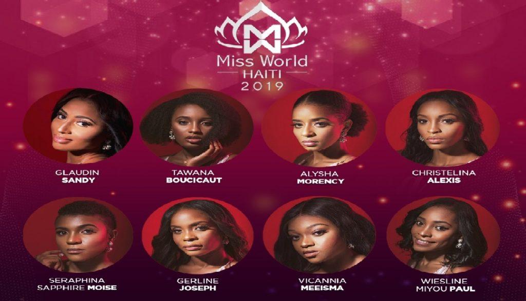 Haiti: Présentation des huit finalistes de la compétition Miss World Haïti 2019