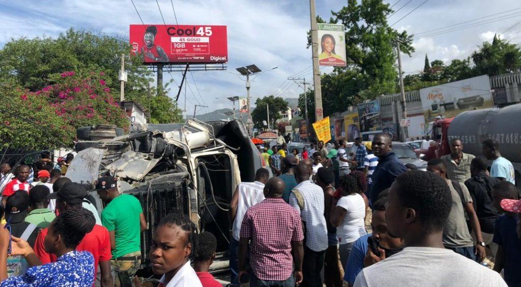 Haiti: Grave accident causé par un camion à Delmas 60