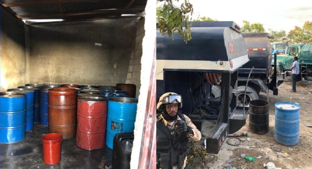 Haiti: Des arrestations, barils et camions saisis par la PNH lors de la vente clandestine de carburant