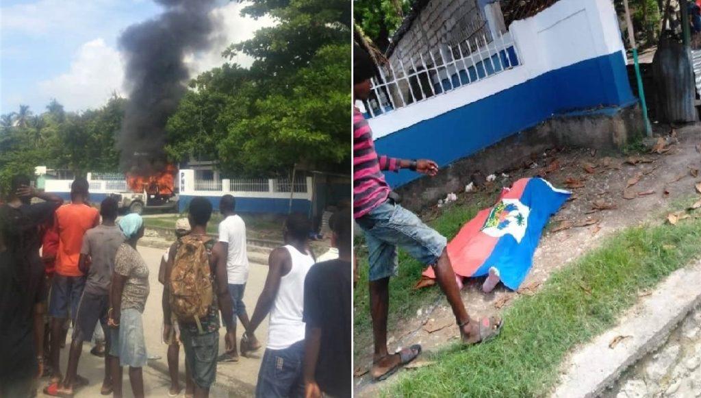 Haiti: Un mort lors d'une tentative d'incendie d'un commissariat par des manifestants