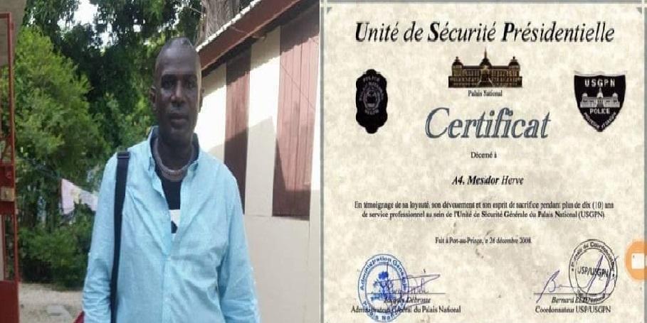 Haiti: L'inspecteur de police, Hervé Mésidor, membre de la fanfare du palais national, tué par par balles