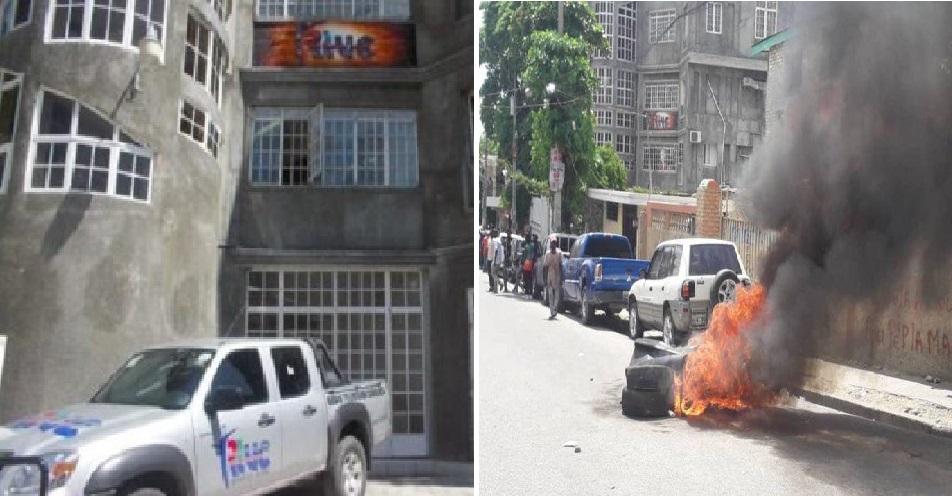 Haiti: Le local de la Radio Télévision Caraïbes attaqué, six voitures incendiées