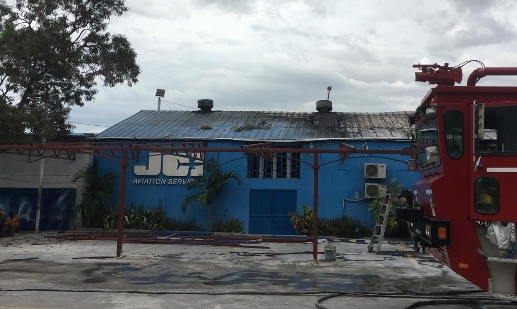 Haiti: Incendie au local de « Amerijet » une compagnie de transport Americaine