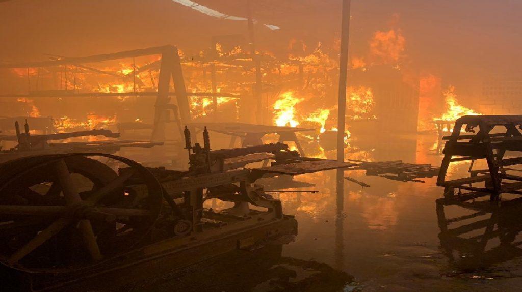 Haiti: La compagnie CUIRS  HAW TAN S.A. à Carrefour incendiée
