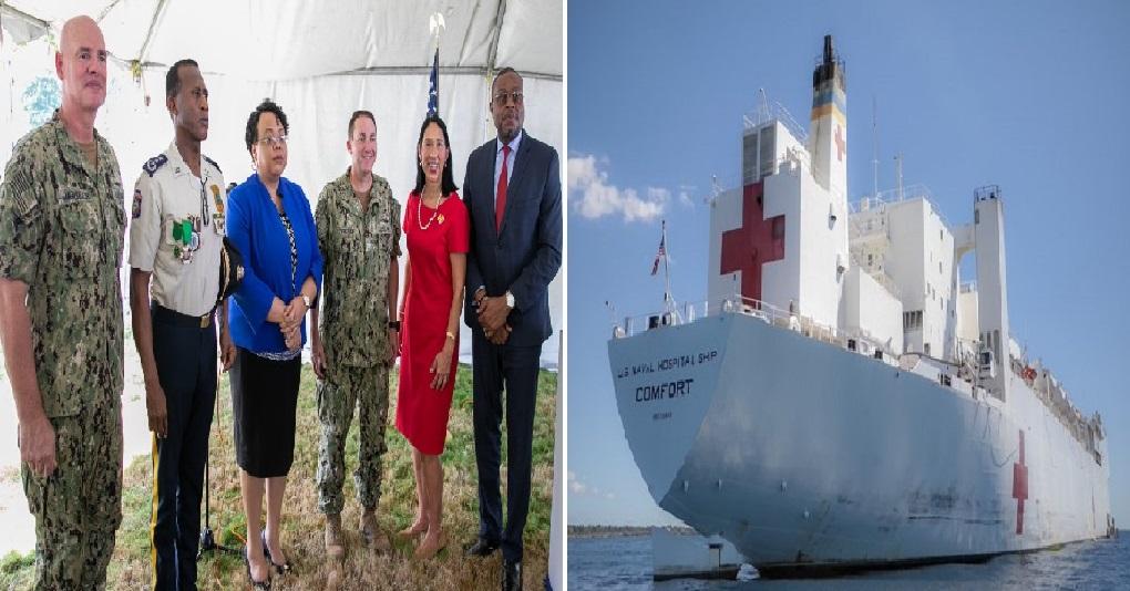 Haiti: Cérémonie de clôture de la mission médicale du navire-hôpitale «Comfort»