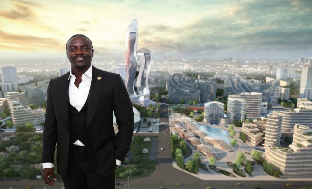Monde: Le chanteur américain Akon construit sa propre ville au Sénégal