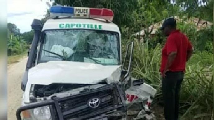 Haiti: Quatre policiers blessés dans un accident de la circulation