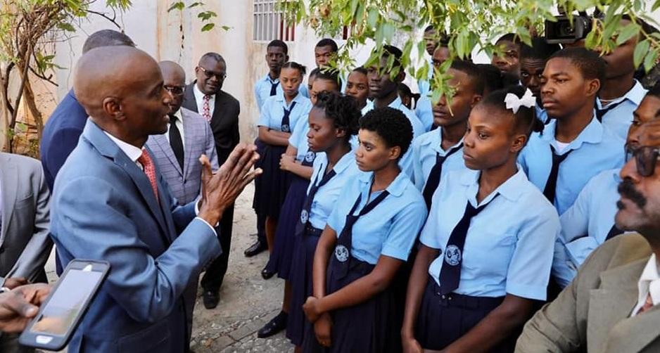 Haiti: Le Président Jovenel Moïse promet le lycée Jean-Jacques Dessalines malgré un conflit terrien