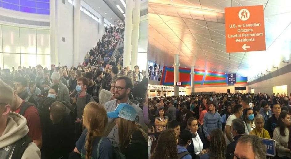Monde:  Scènes chaotiques dans plusieurs aéroports américains à cause du Coronavirus