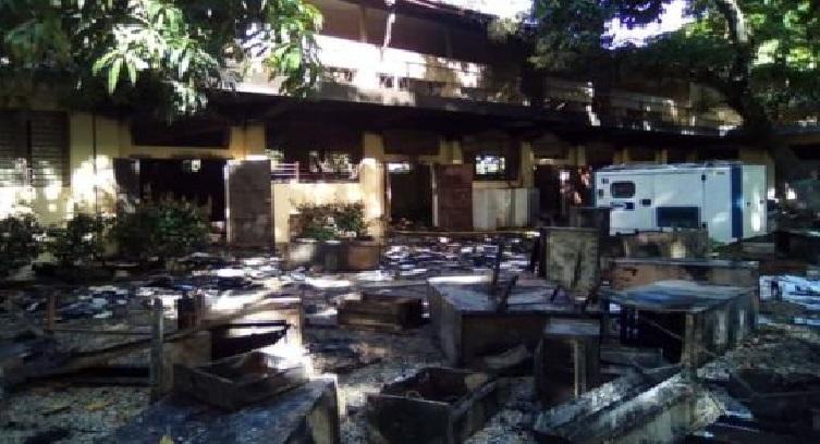 Haiti: Incendie à la Faculté d'agronomie et de médecine vétérinaire de l'UEH