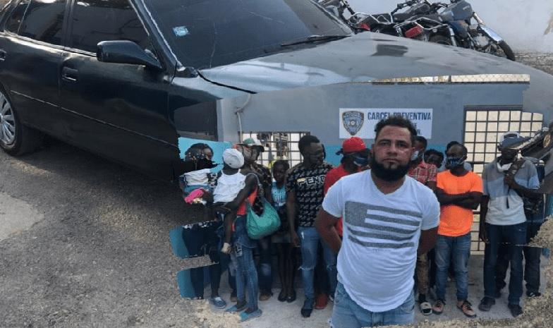 Monde: Un dominicain transportant 17 haïtiens illégaux entassés dans une voiture arrêté