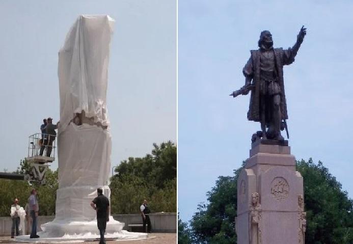 Monde: Deux statues de Christophe Colomb retirées à Chicago