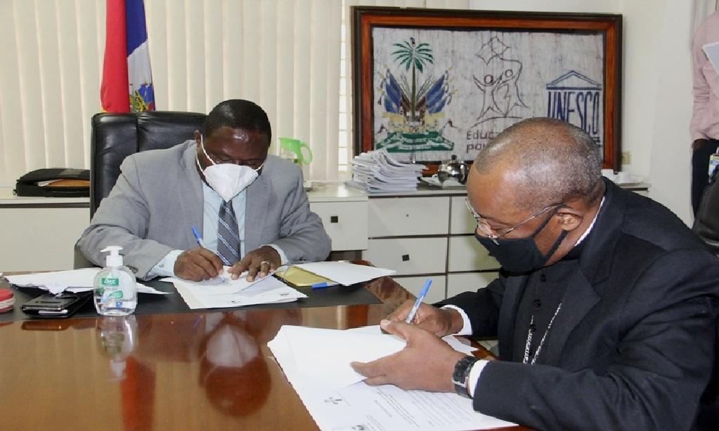 Haïti: Protocole d'accord entre la Conférence épiscopale et le Ministère de l'Éducation