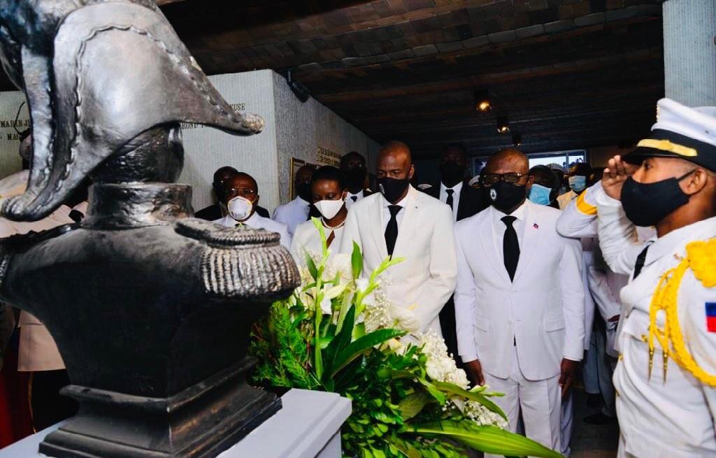 Haïti: Le président Jovenel Moïse rend hommage au père fondateur de la nation Jean-Jacques Dessalines