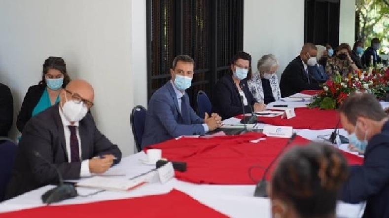 Haïti: Joseph Jouthe rencontre des Chefs de mission diplomatique sur l'efficacité de l'aide externe