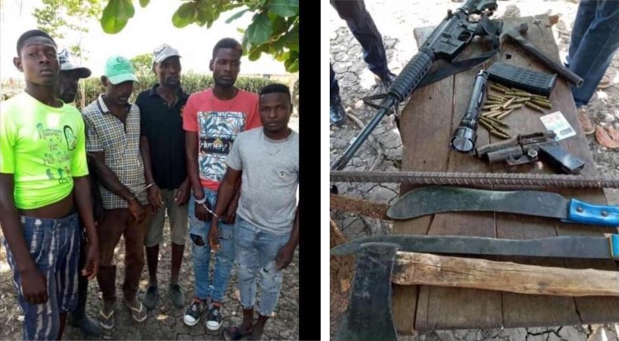 Haïti: Six présumés bandits arrêtés au cours d'une opération