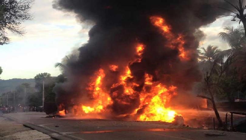 Haïti: L'un des braqueurs d'un propriétaire d'une banque de borlette brûlé vif
