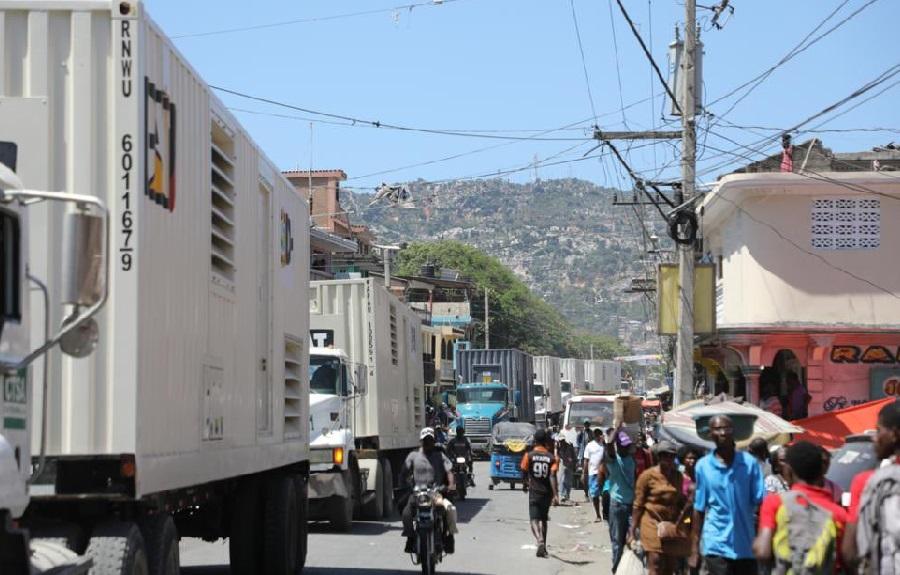 Haïti: Arrivées des moteurs devant alimenter la Centrale électrique de la ville du Cap