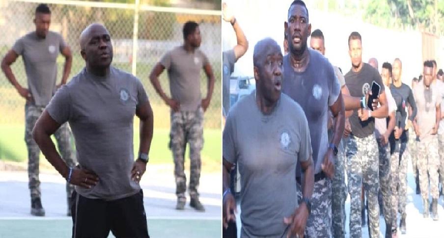 Haïti: Le DG de la PNH Léon Charles en une séance d'entrainement avec l'unité d'élite SWAT