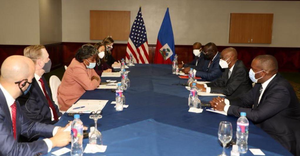 Haïti: Rencontre entre l'Ambassadeur américain Linda Thomas-Greenfield et le Président Jovenel Moïse