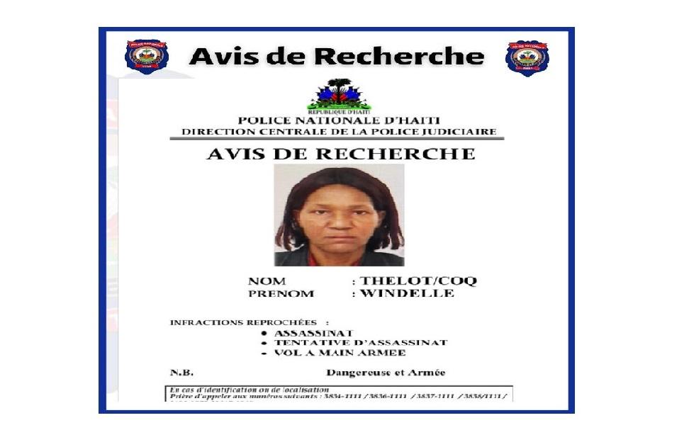 Haïti: La PNH lance un avis de recherche contre la juge Windelle Coq Thélot