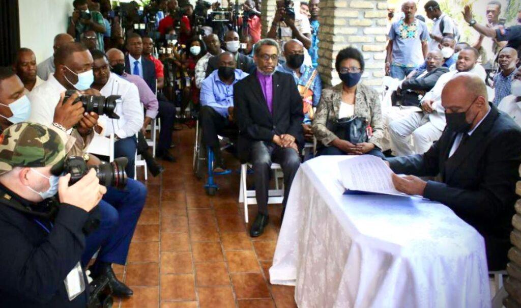Haïti: Ariel Henry et des organisations de l'opposition signent un accord politique