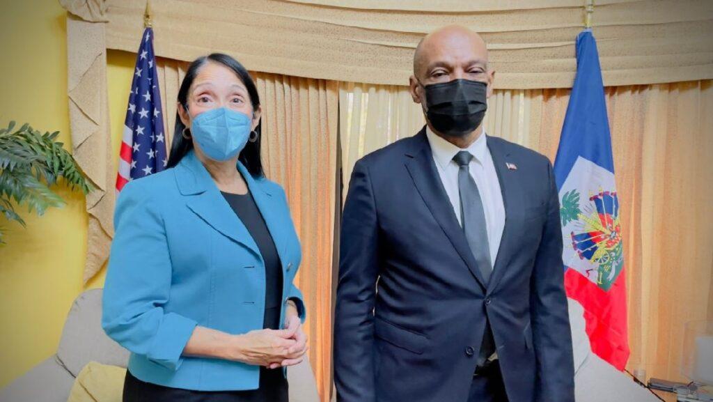 Haïti: Ariel Henry rencontre l'ambassadeur des USA, Michèle Sison, en fin de mission dans le pays