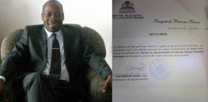 Haiti: Le commissaire du gouvernement Danton Léger démissionne