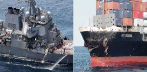 Monde: Dix marins américains disparus après une collision entre leur destroyer et un pétrolier