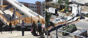 Monde: Effondrement d'un pont piétonnier fraîchement inauguré sur une autoroute à Miami